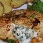 Chicken Breasts Stuffed with Goat Cheese, Caramelized Spring Onions, and Thyme