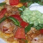 Spicy Chipotle Pork Tostada with Avocado and Tomatoes
