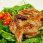 Baked Spicy Quail with Salad