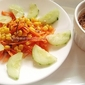 Simple Salad With Sesame Seeds Dressing