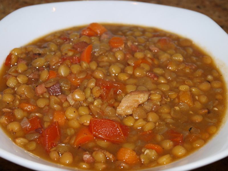 Curried Lentil Stew with rice