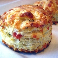 Country Biscuits w/ Ham, Gruyere & Chives