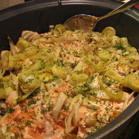 St. Patrick's Day Salmon with Leeks