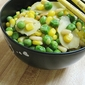 Pine Nuts With Corn And Sweet Peas