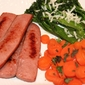 Quickie Dinner for Two: Turkey Kielbasa, Carrots, & Broccolini