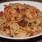 Tuscan shrimp marinara with chickpea pasta