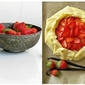 Strawberry Galette with Vanilla Scented Frangipane ... ♥ Rustic Sweetheart Tart ♥