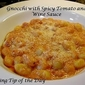 Recipe: Gnocchi with Spicy Tomato and Wine Sauce