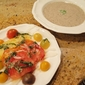 Creamy Mushroom Soup and Heirloom Tomato Salad