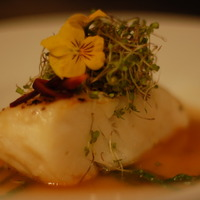 Chilean Sea Bass with sea Beans and Basil Tomato Broth