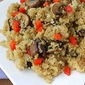 Quinoa with Caramelized Crimini Mushrooms, Soy Sauce, and Ginger Recipe