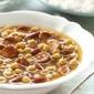 Tapas...Garbanzo Beans With Chorizo on a Crusty Baguette