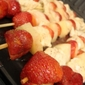 Strawberry, Pineapple & Chicken Kabobs with a Lemony, Pineapple Marinade Recipe