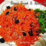 Classic Carrot & Raisin Salad Tossed with Honey & Sesame Dressing