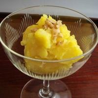 Vegan Japanese Dessert: Sweet Potato, Apple & Gardenia Seeds Kinton