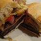 Portabella Pesto Sandwich with Balsamic Red Onions