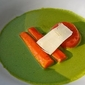 top chef experiment: take one (roasted beets and carrots with carrot top puree)
