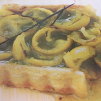 French Dessert: Green Tomatoes and Vanilla Tart