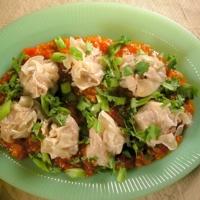 Lamb Siu Mai With Spicy Tomato Sauce