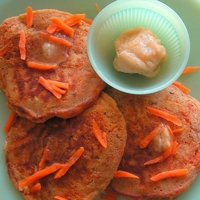 Carrot Cake Pancakes with Honey Butter