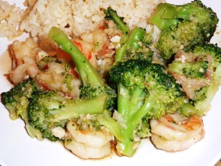Shirmp with Broccoli Stir Fry