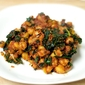 Curried Chickpeas, Onions, and Kale in Tomato Sauce