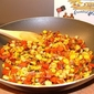 Revved Up Caramelized Corn with Onions and Red Bell Peppers
