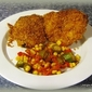 Okra and Corn Creole with Crispy Ranch Chicken