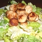 Seared Digby Scallop Ceaser Salad...low fat dressing