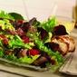 lamb, raspberries, pecans and avocado salad