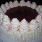 Orange Cheesecake with Pomegranate Glaze
