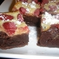 Raspberry Cheesecake-Truffle Brownies