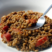 chorizo and lentils