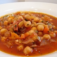 Chickpeas Stewed With Chorizo