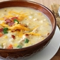 Chicken, Corn & Potato Chowder Recipe with Green Chiles & Cheddar Cheese