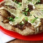 Brie Cheese & Balsamic Caramelized Onion Whole Wheat Flatbread Recipe
