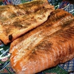 Salmon with Indian Spices, poached in oil