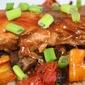 Salmon with Thai Peanut Sauce