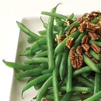 Caramelized Onions and Pecan Green Beans