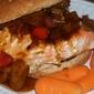 Gingery Teriyaki and Pineapple Salmon Burger