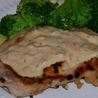 Pork Chops with a Savory Sage and Sour Cream Sauce