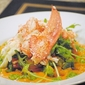 Lobster salad with avocado, pesto and tomato vinaigrette