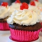 Chocolate Cherry Coke Cupcakes