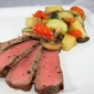 Grilled London Broil and Veggies