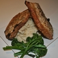 Pork Chops with Butterbean and Potato Mash