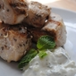 Authentic Greek chicken souvlaki