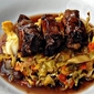 top chef experiment: take nine (brined short ribs with 5 onion cabbage)