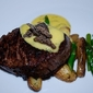 Pan Roasted Beef Tenderloin with Horseradish Bearnaise, Confit Potatoes and Aparagus
