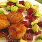 Scallops with Avocado and Beet Salad; Weekly Menu Planning Service