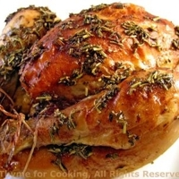 Roasted Cornish Games Hens (Poussin) with Red Wine